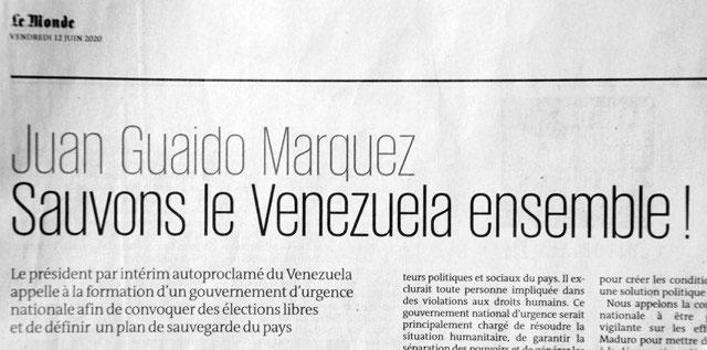 Venezuela: coup de projecteur sur les zones d´ombre médiatiques - Page 7 Monde